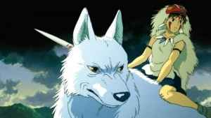 "You may recognize this young woman and her wolf from Miyazaki's critically acclaimed film ""Princess Mononoke"""
