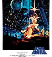 Original poster for George Lucas's Star Wars: A New Hope 1977