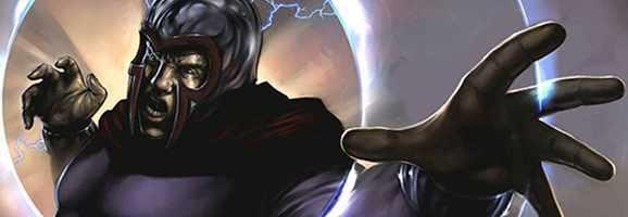 Magneto in classic costume colors.