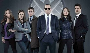 (left to right) Skye, Simmons, Fitz, Coulson, May, and Ward