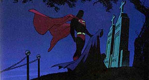 Superman consoling Batman