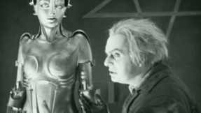 The inventor Rotwang and his Maschinenmensch in Fritz Lang's 1927 silent movie, Metropolis.