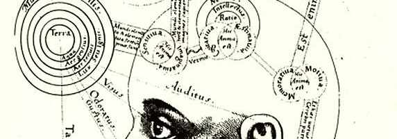 A schematic drawing of human perception by the physician Robert Fludd (1574-1637).