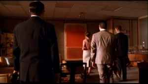 "A Mark Rothko painting in Bert Cooper's office, ""Mad Men,"" -the corporate appeal of abstract painting."