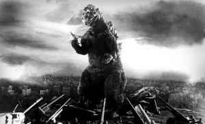 Godzilla faces down the Japanese military.