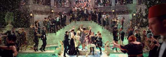 Splashy Party Scenes Like This Take Up a Lot of the Movie's Focus.