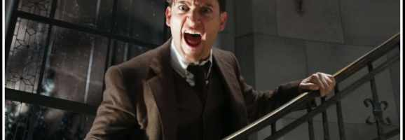 Tobey Maguire as Nick Carraway in the Mental Asylum.