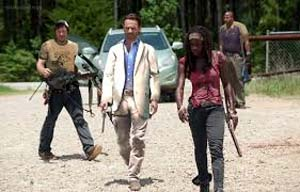 Left 4 Dead 2 on the set of The Walking Dead