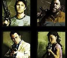 Left 4 Dead 2 Survivors: Ellis, Coach, Nick and Rochelle