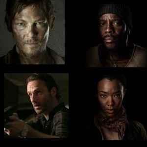 He Walking Dead Survivors: Daryl, Tyreese, Rick, Sasha