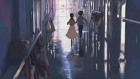 Akari and Takaki when they were kids at elementary school