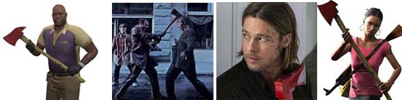The axe is a preferred Melee Weapon in Left 4 Dead 2, The Walking Dead and World War Z