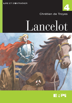 A typical portrait of Lancelot, hair blowing in the breeze, armor intact.