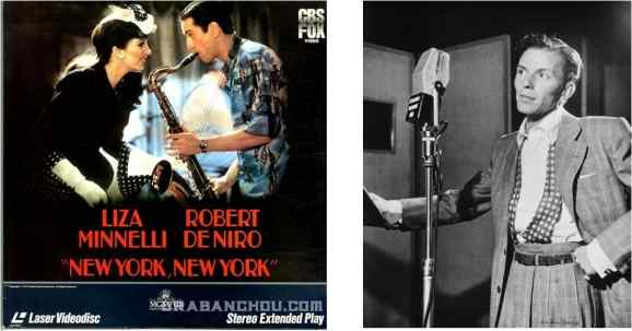 Song interpreted by Liza Minnelli in Scorsese's film New York New York (1977) and Frank Sinatra's cover