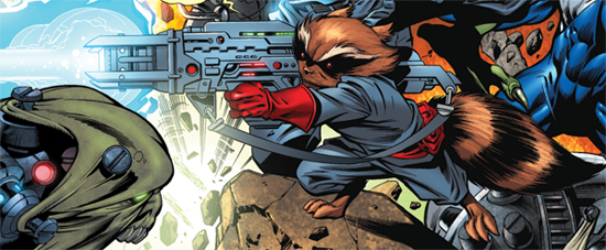 Rocket Racoon of Guardians of the Galaxy