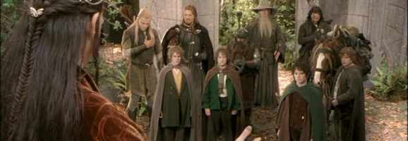 The Fellowship from Peter Jackson's The Lord of the Rings: The Fellowship of the Ring.