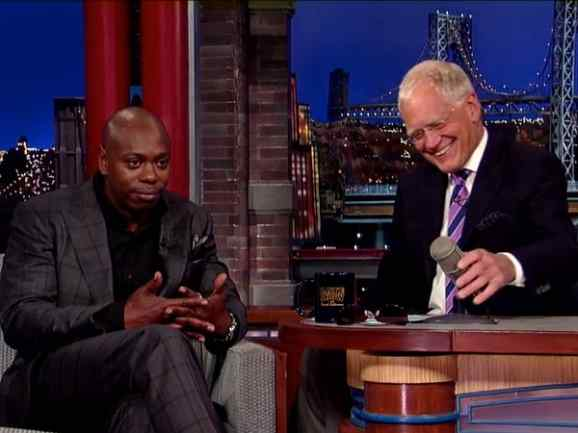Dave Chappelle on The Late Show with David Letterman