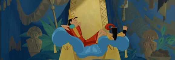 Kuzco clings to the past for comfort and looks back on a time when he had not one  care in the world.