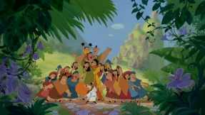 "By the end, Kuzco has learned that a perfect world does not begin and end with ""me"" but with ""us"" and his new groove reflects this."