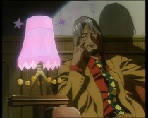 An example of the off putting color composition in the original anime