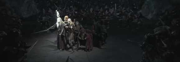 The Fellowship in the Mines of Moria from Peter Jackson's The Lord of the Rings.