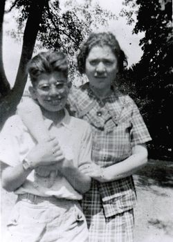 The poet with his mother, Naomi Ginsberg, in the late 1930s.