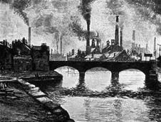 Smog of city