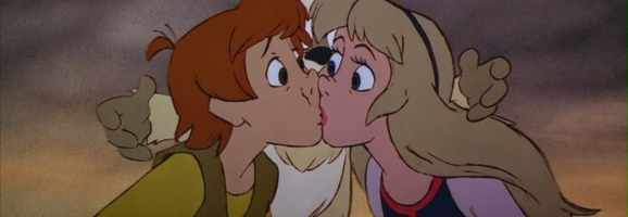 Disney's most awkward kiss. Behold how forced it is.