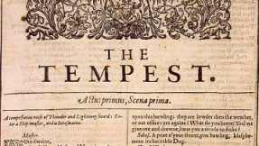 """The Tempest"" was given the primary location in the first Folio of Shakespeare's works."