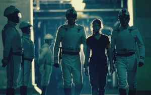 The Hunger Games Katniss surrounded by Stormtroopers