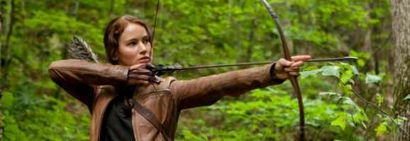 Katniss in the forest The Hunger Games