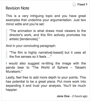 Revision Entry