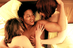Han's engaging in a threesome with two white women contrasts sharply with Virgil's sexual frustration.
