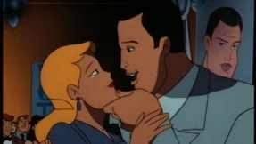 "Batman the Animated Series-- Harvey and his fiance share a moment in the episode ""Two Face Part I"""