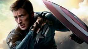 Chris Evans as Steve Rogers/Captain America.