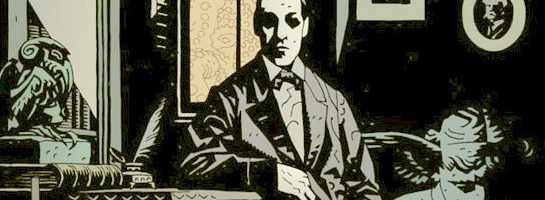H. P. Lovecraft, illustration by Mike Mignola, 2002.