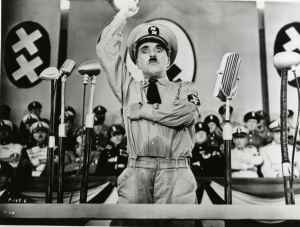 Hynkel, Chaplin's satire of Adolf Hitler