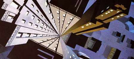 Batman the Animated Series-- Gotham City concept art