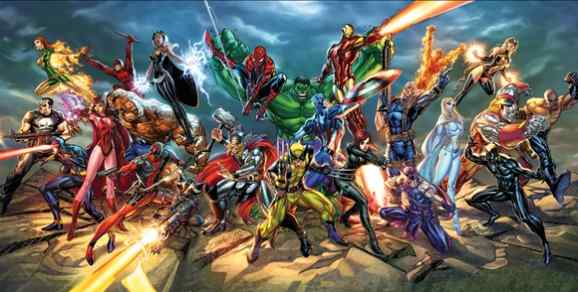 Marvel Superheroes by J. Scott Campbell