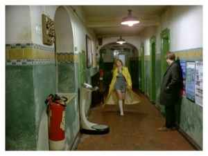 Susan's yellow coat was another color motif in Deep End.
