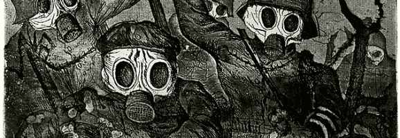 Shock Troops Advance Under Gas, by Otto Dix, 1924.