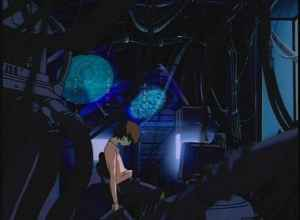 Lain alone in her room with only her computer