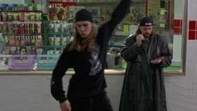 "Jay and Silent Bob as comic relief in ""Mallrats"""