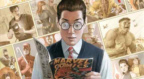 Peter Parker reading Marvel Comics #1