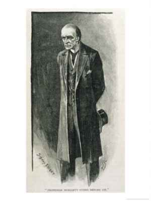 "Professor Moriarty as illustrated by Sidney Paget. This image appeared with the first publication of ""The Final Problem."""