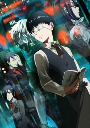 The promotional poster for the first season of Tokyo Ghoul.