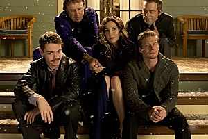 The Cast of Weeds: (left to right) Shane, Doug, Nancy, Silas, Andy.