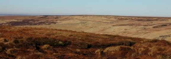 Saddleworth Moor in England