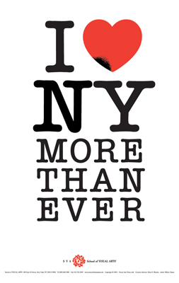I Love New York More Than Ever. Milton Glaser (2001).
