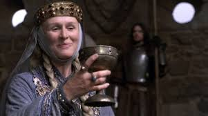 Gertrude played by Glenn Close in Franco Zeffinelli's 1990 version of Hamlet
